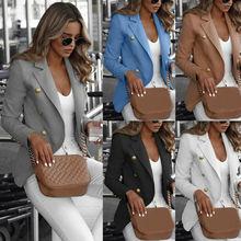 Women Jacket Slim Casual OL Work Slim Coat Long Sleeve Outwear Womens Suit Ladie