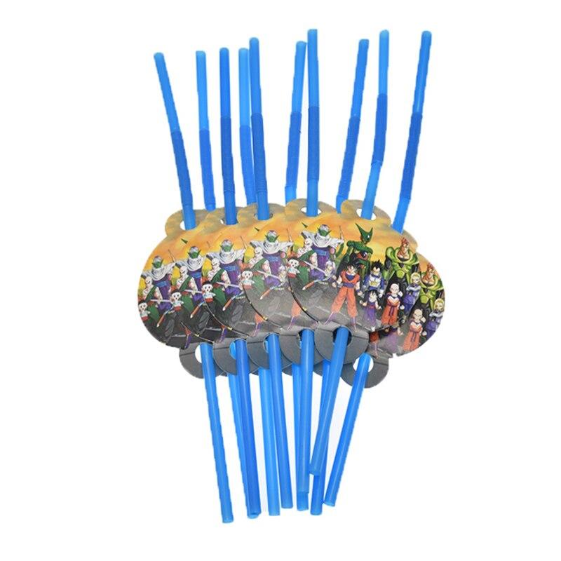 Купить с кэшбэком 20pcs/lot Dragon Ball disposable straws Dragon Ball theme birthday party decorations Dragon Ball theme straws