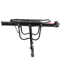 MTB Bicycle Rear Rack Seat Post Mount Pannier Luggage Carrier 25KG Load Quick release Bike Rear Rack with Reflector