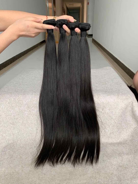 Doozy Hair 3 paquetes 10 a pelo humano virgen brasileño recto
