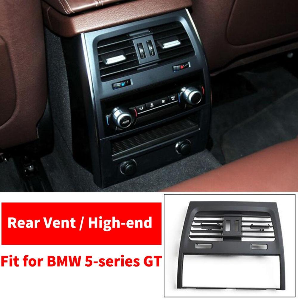 Voiture arrière rangée A/C climatiseur Chrome intérieur sortie évent tableau de bord Grille pour BMW série 5 GT 528 535 F07 2010 2017