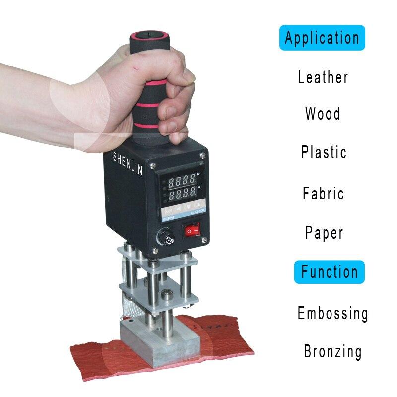 SHENLIN przenośna maszyna do brązowania ręczna maszyna do tłoczenia na gorąco z ładnym kontrolerem 5*7cm 8*10cm 10*13cm płyta grzewcza brajlowska