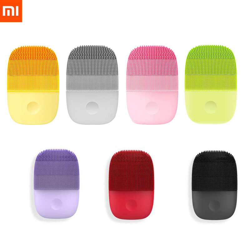 Xiaomi InFace Cleaning Massage Electric Deep Facial Brush Sonic Face Washing IPX7 Waterproof Silicone Face Cleanser Skin Care