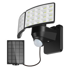 Split/All-in-one LED Solar PIR Motion Sensor Wall Light Outdoor 80LEDs 3 Modes Waterproof IP65 For Home Street Garden Wall Light vioslite hot now product led light source and cool white color temperature cct all in one solar street light