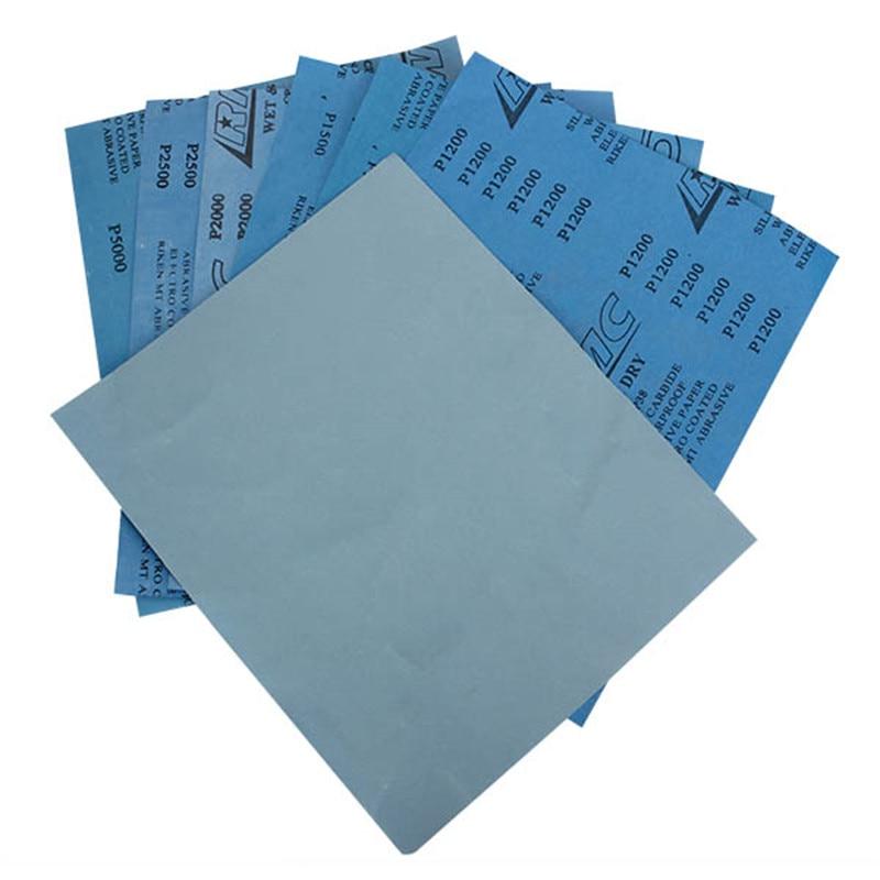1Pc Abrasive Sandpaper Sanding Wet/dry Waterproof Abrasive Paper 1000-7000 Grit 280x230mm Sandpaper Abrasive Tools