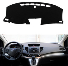 SJ Antislip Auto Inner Auto Dashboard Cover Dashmat Pad Tapijt Zonnescherm Dash Board Cover Fit Voor Honda CRV 2012 2013 2014-2016(China)