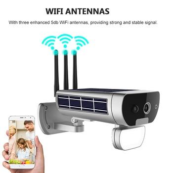 Wireless HD 1080P WiFi IPCamera Solar&Battery Power Bullet  PIR Motion Detection Waterproof Thunderproof Outdoor Security Camera 3