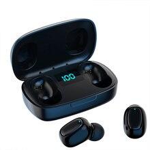 Беспроводные Bluetooth-наушники, TWS басовые стереонаушники, спортивные водонепроницаемые Игровые наушники, сенсорные наушники со сканером отпе...