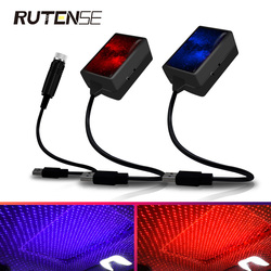 USB car led Decorative Atmosphere Lamp Roof Star Night Light Projector Adjustable Car Styling Automotive Interior Light red blue