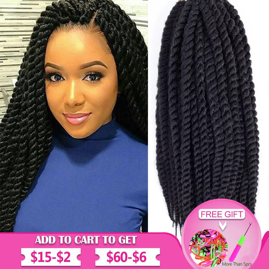 Ombre Marley Braids Hair Synthetic Braiding Hair Havana Mambo Twist Crochet Hair Braids Senegalese Twist Crochet Extensions Hair