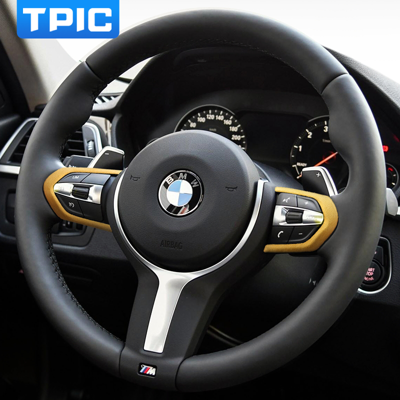 Alcantara чехол рулевого колеса автомобиля украшения для BMW E90 E92 E93 F30 F34 F20 F21 F22 F32 E84 F80 F83 на возраст 1, 2, 3, 4, серия X1 M3 M4