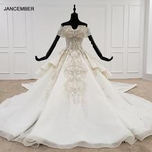 HTL1119 Роскошное дизайнерское специальное Съемное платье с открытыми плечами и воротником со съемными бусинами 2020 новый модный дизайн горячая распродажа свадебное платье 2020