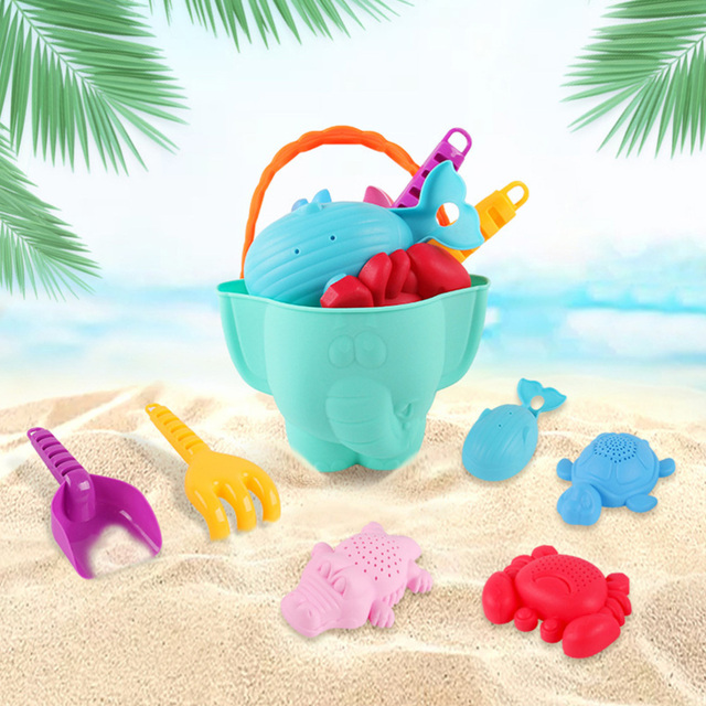 7Pcs Tragbare Sommer Sand Strand Spielzeug Set Durable Kinder Sand Spielen Set