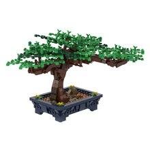 Blocs de construction en briques, 647 pièces, arbre bonsaï, buisson vert, fleur, herbe, modèle de plante, ornement, bricolage, jouet éducatif pour cadeau