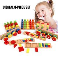 8PCS/Set Children's Teaching Aids Combination Puzzle Early Education Enlightenment Parent Child Interactive Toys Brain Game