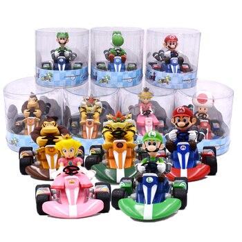 Figma-figuras de Super Mario Bros, Luigi, Dinosaurs, Donkey Kong, Bowser Kart, figuras...