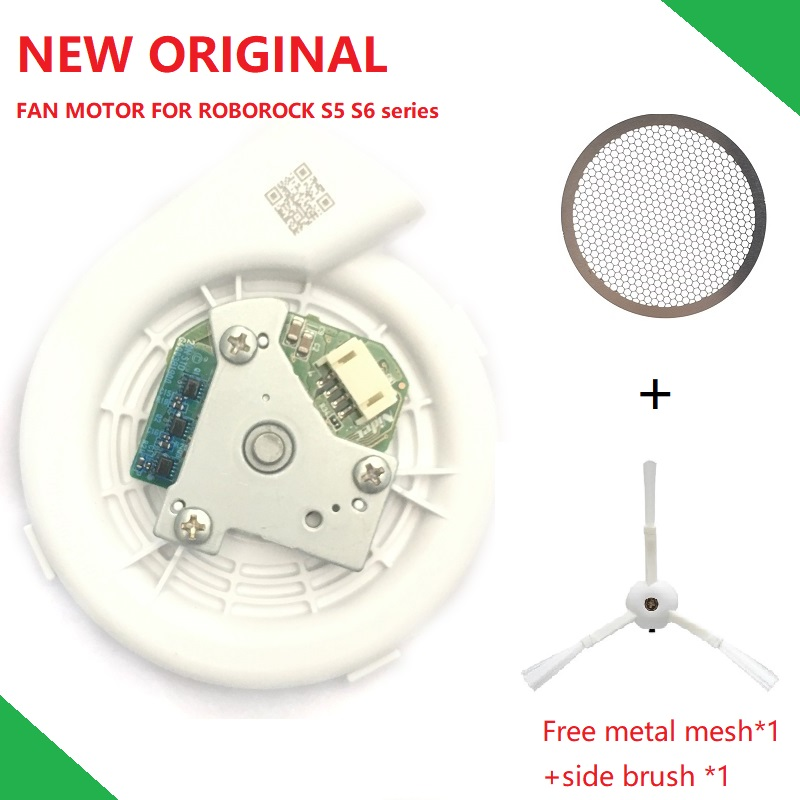 New Original Engine Ventilator Fan Motor Vacuum Module With Metal Mesh Side Brush For Xiaomi Vacuum Cleaner Roborock S50 S51