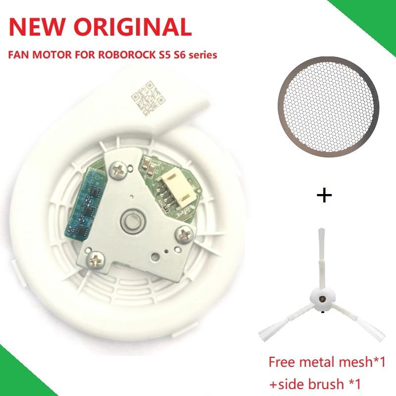 New Original Engine Ventilator Fan Motor Vacuum Module With Metal Mesh Side Brush For Xiaomi Vacuum Cleaner Roborock S50 S51