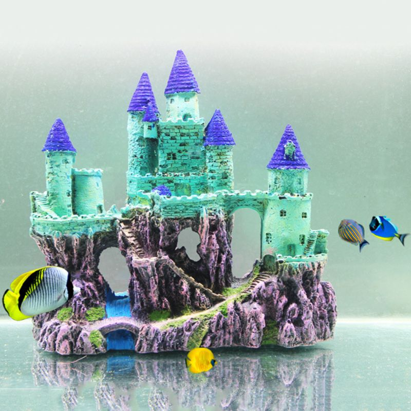 Aquarium sombre château Aquarium décor ornement Simulation Aquarium décorations