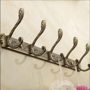 Image 5 - European Retro 4 6 hook wall  Metal Bronze Antique storage rack  hat clothes s for hanging coat hanger home organizer