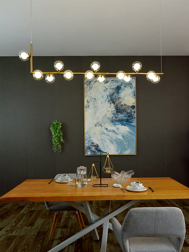 cheapest Nordic restaurant chandelier light luxury magic bean front desk new modern minimalist bar counter dining lamp