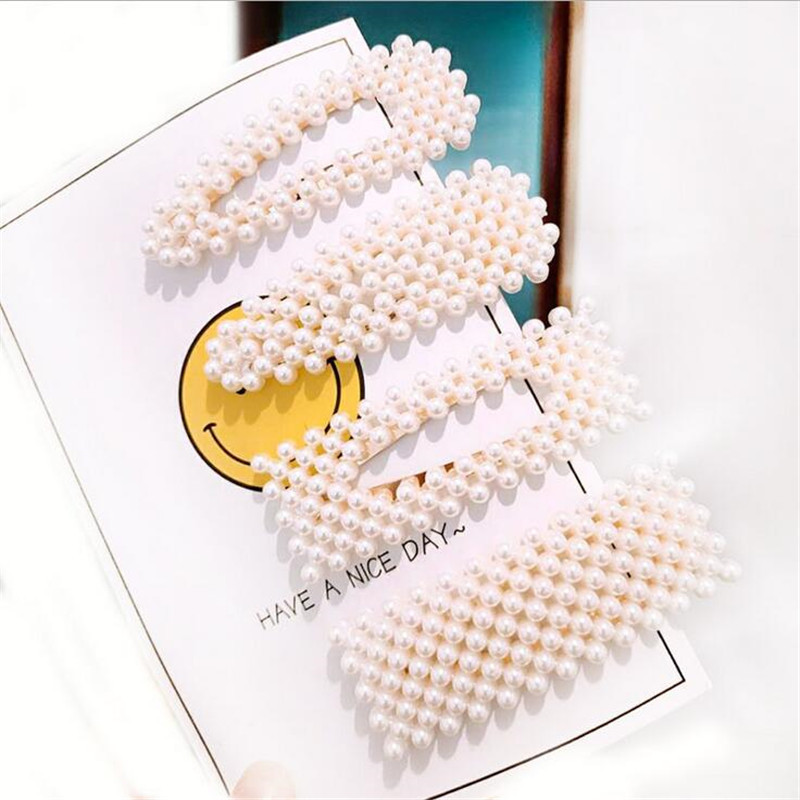 Pearl Hairgrip Elegant Women Hair Clips for Girl Princess Retro Gold Sliver Pin Barrette Hairclip Headdress   Headwear   Hair Pins