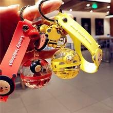 Брелок для ключей с хрустальным шариком милая мультяшная водяная