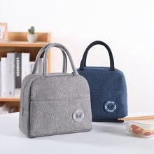 1 pièces sacs isothermes frais en Nylon imperméable à l'eau Portable fermeture éclair thermique Oxford sacs à déjeuner pour les femmes