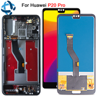 "6.1""For Huawei P20 Pro LCD Display Screen Touch Screen Panel Digitizer P20 Plus CLT AL01 assembly With frame P20 Pro replacement"