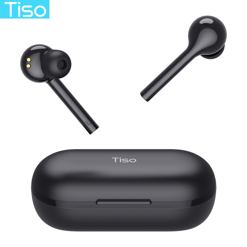 Tiso i7 wireless Bluetooth 5.0 earphones touch control TWS headphone IPX5 waterproof dual mode 3D HiFi stereo headset with MIC