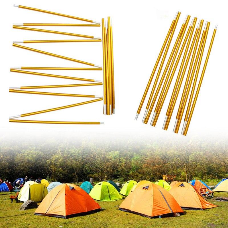 2pcs Tent Poles Adjustable Aluminum Alloy Outdoor Camping Tent Tarp Rod Replacement Poles L9 #2
