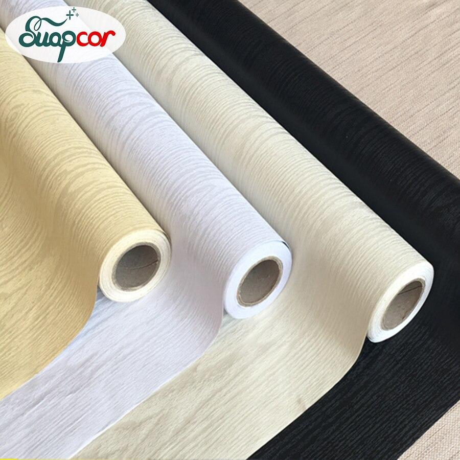 Adesivo de madeira à prova dwaterproof água wallpapers rolos móveis auto adesivo armários renovação do desktop adesivos porta papel parede decorativo