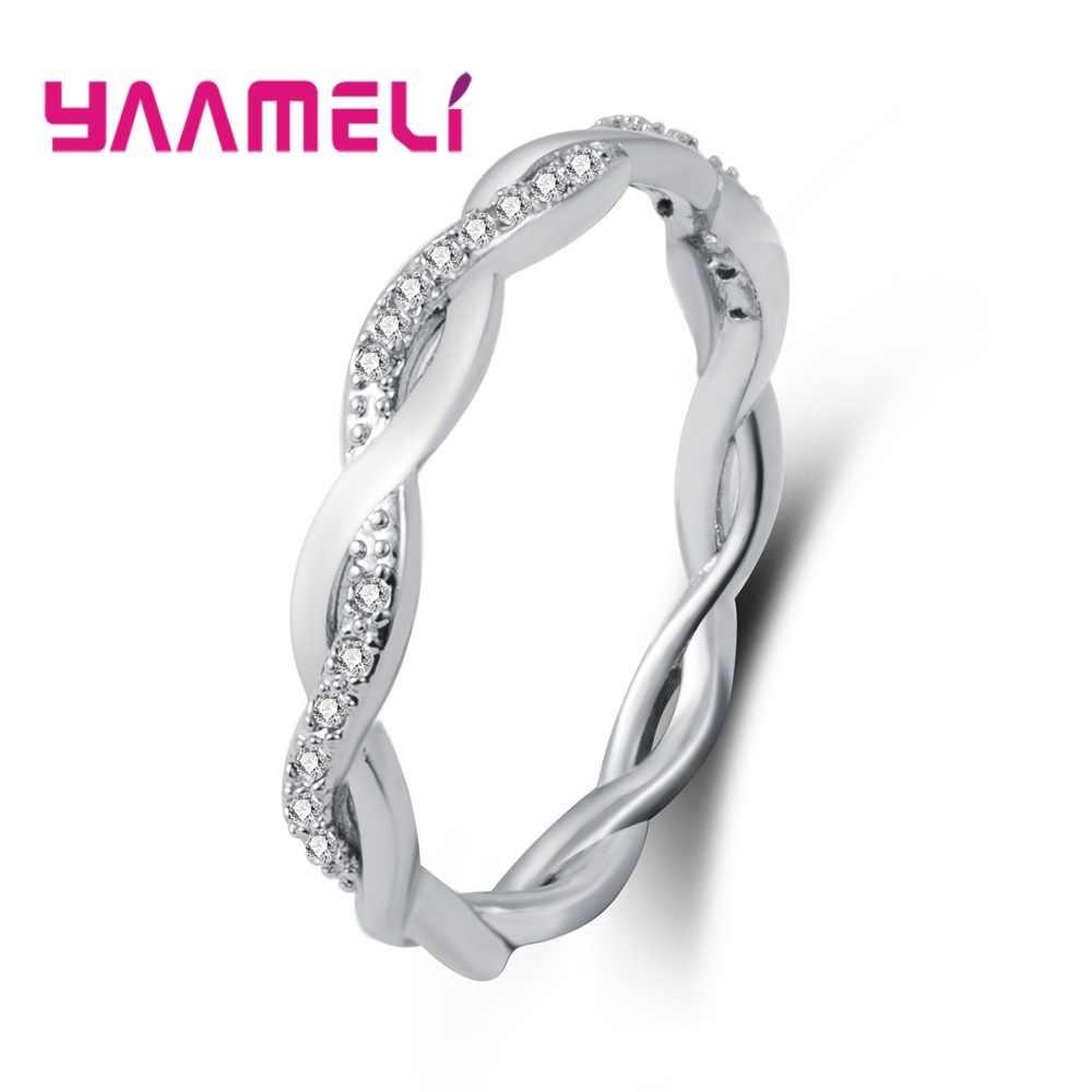 Высокое качество, новое витое кольцо бесконечности для женщин и мужчин, свадебное обручальное кольцо, 925 Розовое золото, кубический циркон, подарок, ювелирное изделие, горячее предложение, очаровательное кольцо