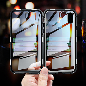Image 3 - Luxury Case For Apple iPhone XS MAX XS X XR 7 8 Plus 360 Full Protection Case Magnetic Tempered Glass Aluminum Metal Case Cover