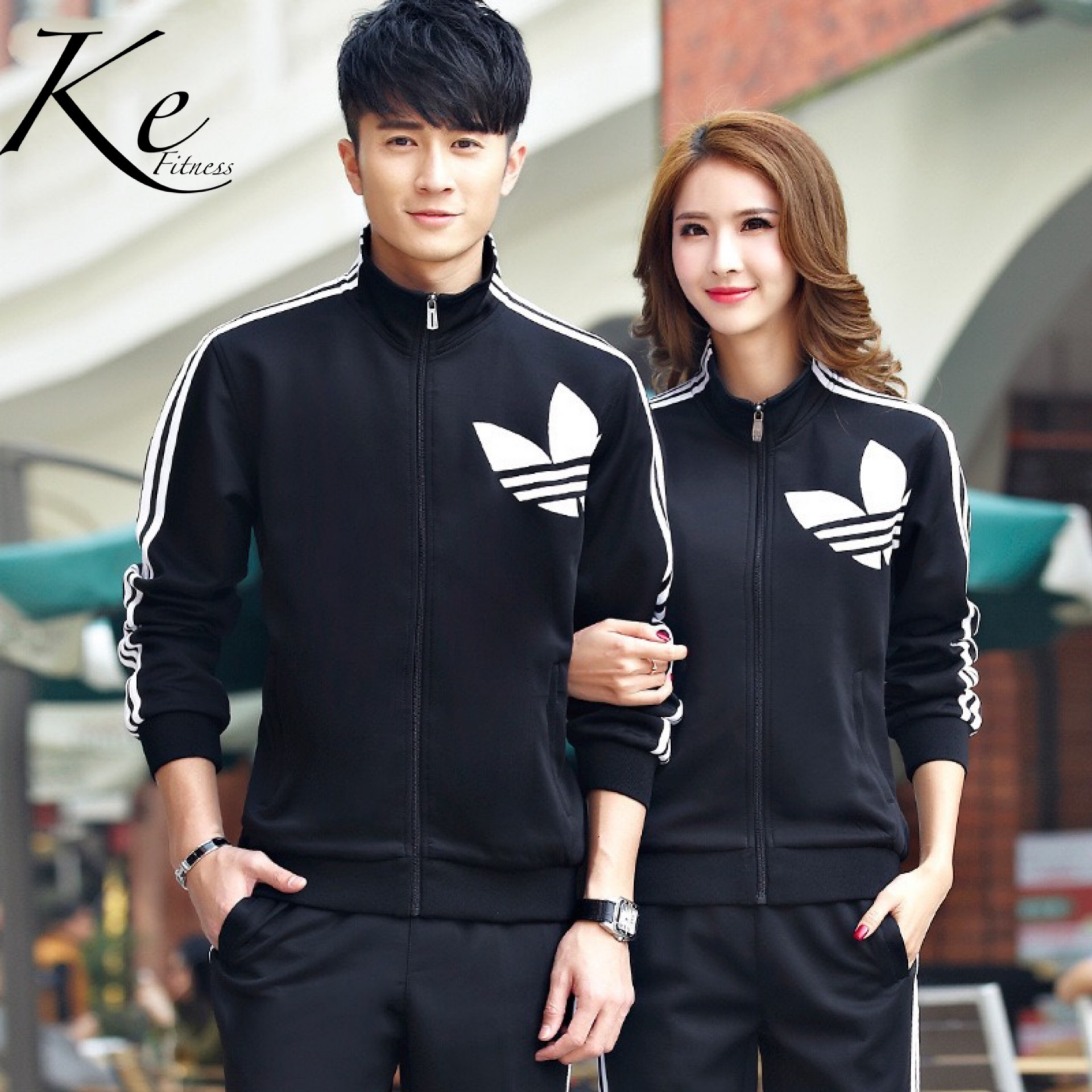 KE Sports And Leisure Men's Sportswear Suits Sport Set Women's Run Fitness Large Size Couple Trousers Sweater Love Tracksuit