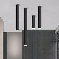 Lámpara de techo moderna con luces Led, iluminación de tubo largo con montaje en superficie de Led de techo, accesorio de iluminación de 75mm, 200mm, 300mm y 400mm