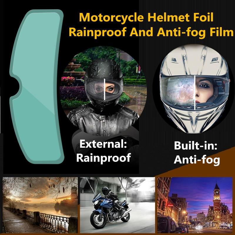 Helmet Clear  Anti-Fog patch film Universal Motorcycle Helmet Lens Fog Resistant Films for K3 K4 AX8 MT Helmets 3