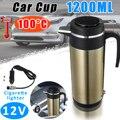 1200 мл 12 В Электрический нагреватель для автомобиля  грузовика  термостатический чайник  нержавеющая сталь  авто Путешествия  кофе  чай  кипя...