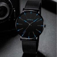 Uhr Männer Uhr 2019 Ultra-Dünne Business Männer Uhren Quarz Edelstahl Band Einfache Armbanduhr Männlichen Uhr Freies verschiffen