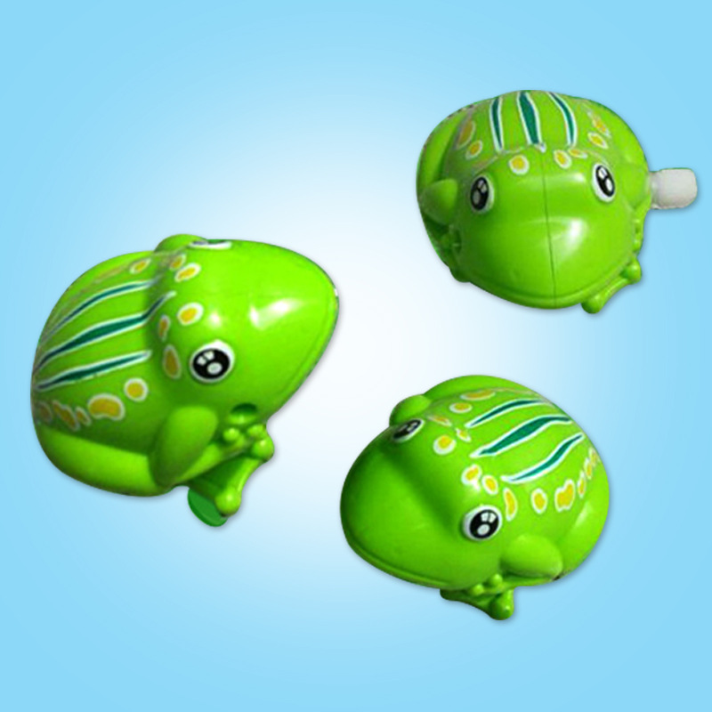 Liters And Version Spring Non-Algam Frog 80 Nostalgic Classic Toy Children Stall Animal On Wind-up Toy