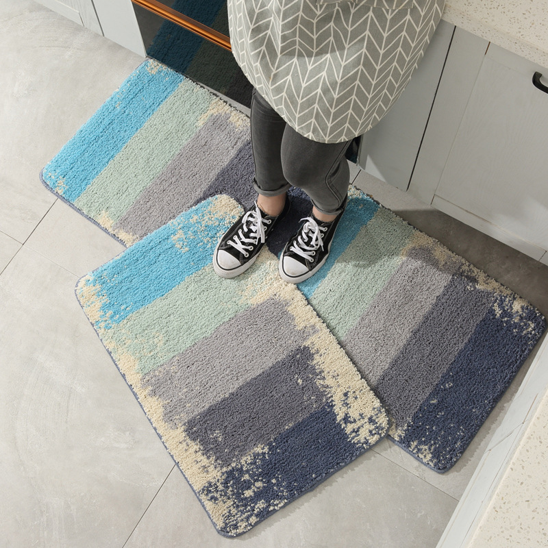 Non-Slip Kitchen Floor Mats Toilet Absorbent Carpet Household Water Absorption Bathroom Rug Quick Dry Foot Pad For Shower Room