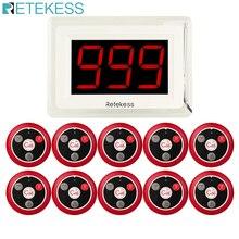 Беспроводная система вызова пейджера RETEKESS 433 МГц для ресторана, офиса, офиса, кафе