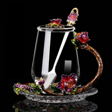 Creative enamel color water cup flower tea cup juice coffee cup heat-resistant glass water mug home drinkware nice gift creative milk glass cup breakfast coffee mug office juice tea cup home kitchen transparent cup heat resistant ins gift cup