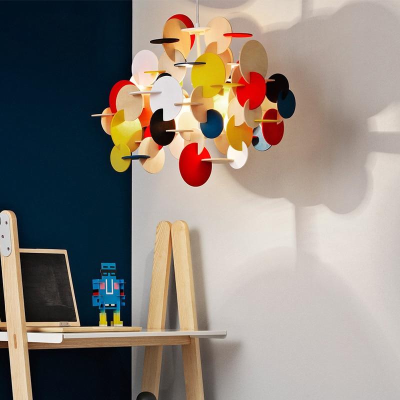 Modern Industrial Lamp Luminaire Glass Ball  Restaurant  LED  Pendant Lights Home Decoration E27 Light Fixture Hanglamp