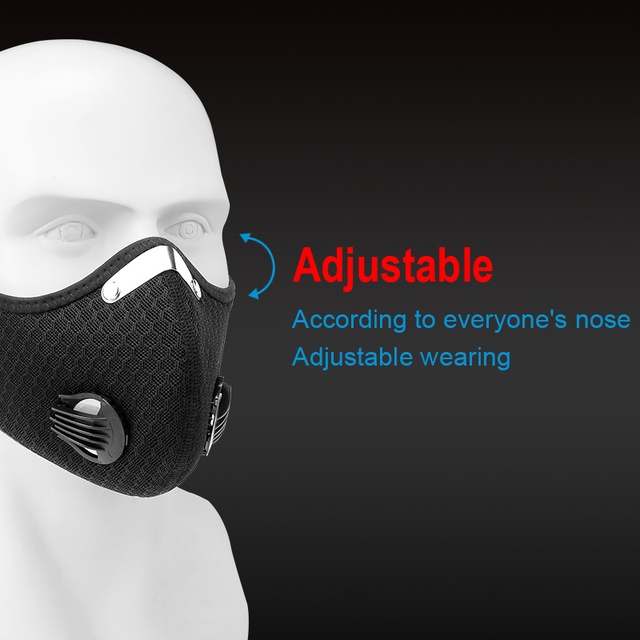X-TIGER Anti-Pollution Cycling Mask With 2  Filter Activated Carbon Filter Bicycle Sports Masque Lavable Mask PM 2.5 Face Mask 1