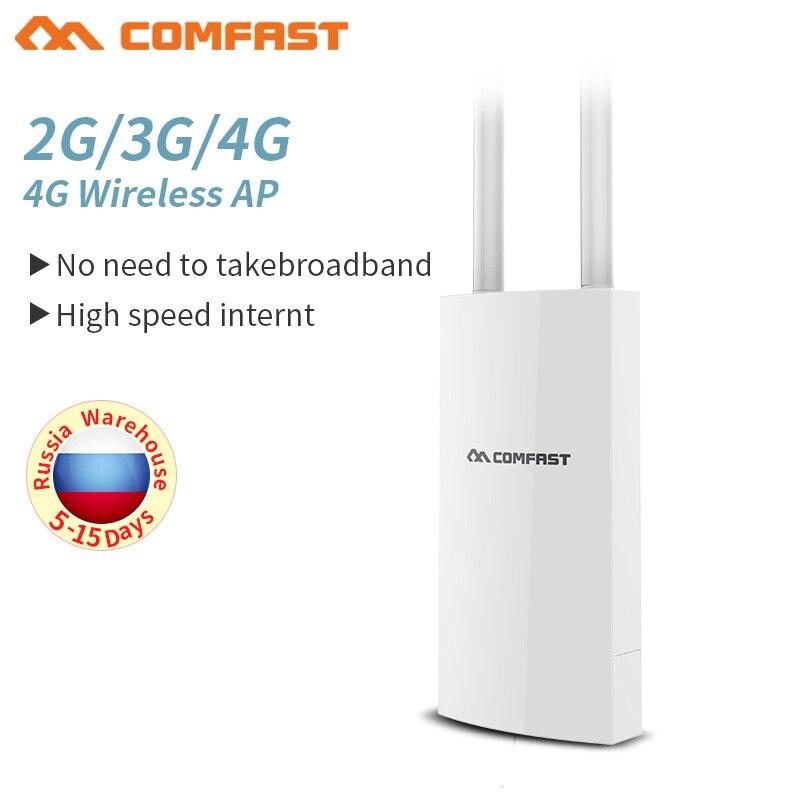 Enrutador de señal WiFi para exteriores 4G lte, enrutador AP inalámbrico con ranura para tarjeta SIM, punto de acceso de 2,4G, punto de acceso para exterior, 4G LTE enrutador, antena de señal 2 * 5dBi Wiflyer SEL732 módem USB 4G Dongle Wifi tarjeta SIM módem Lte inalámbrico Router Wifi portátil LTE Router para coche de vigilancia Wifi