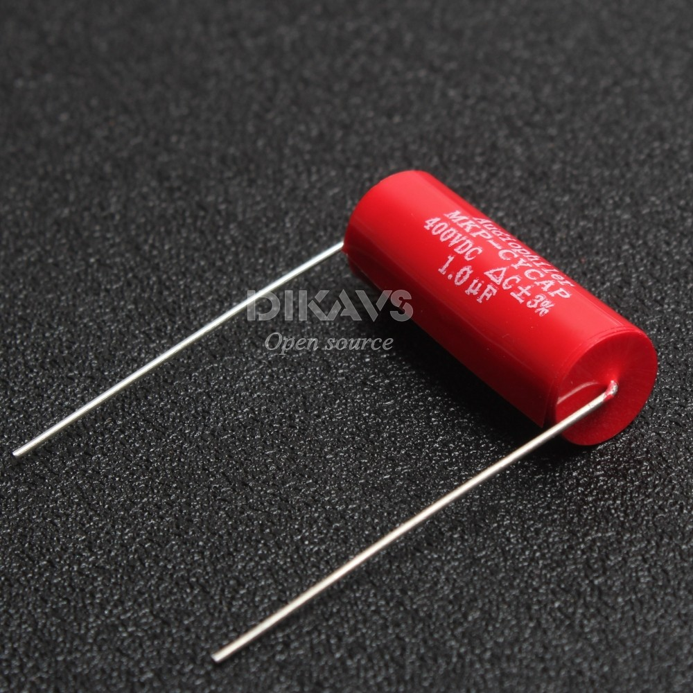 1Pcs Audiophiler Axial MKP 1uF 400v DC HIFI DIY Audio Grade Capacitor For Tube Guitar Amps