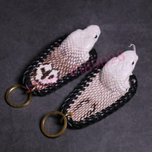 100% authentic, original, natural Thai snake head key chain, exquisite handicraft jewelry(China)