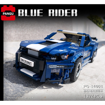 Lepining 10265 Technic Series Bricks MOC Fords Mustang GT500 Racing Car Model Building Blocks Hypercar Toys For Children Gifts image