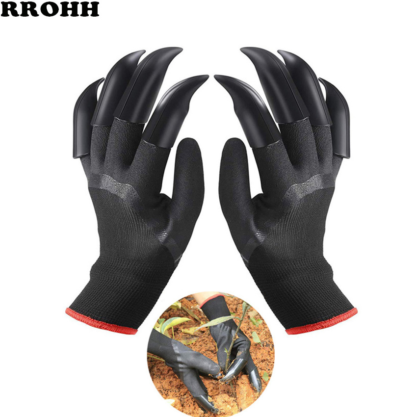 1 Pair High Quality Garden Gloves 8 ABS Plastic Garden Rubber Gloves With Claws Quick Easy To Dig And Plant For Digging Planting